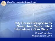 City Council Response to Grand Jury Report ... - City of San Diego