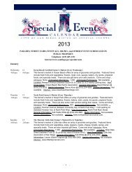 Special Events Calendar (Automated)(SQL Server) - City of San Diego