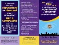 CRB Brochure (PDF) - City of San Diego