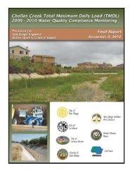 Chollas Creek Total Maximum Daily Load 2009 ... - City of San Diego