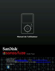 Manuel de l'utilisateur - SanDisk
