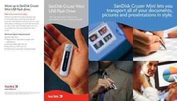 SanDisk Cruzer Mini lets you transport all of your documents ...