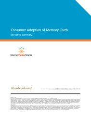 Consumer Adoption of Memory Cards: AberdeenGroup - SanDisk