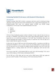 Evaluating FlashSoft Performance with Standard IO ... - SanDisk