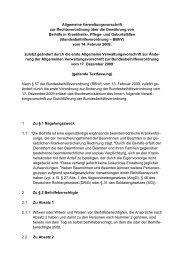 Allgemeine Verwaltungsvorschrift zur Rechtsverordnung über die