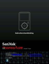 Gebruikershandleiding - SanDisk