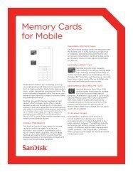 Memory Cards for Mobile - SanDisk