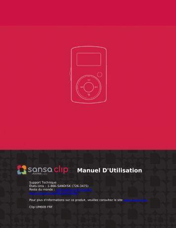 Manuel D'Utilisation - SanDisk