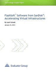 FlashSoft Software from SanDisk: Accelerating Virtual Infrastructures