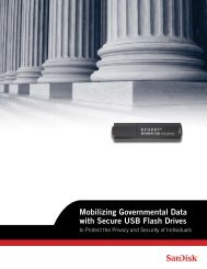 Mobilizing Governmental Data with Secure USB Flash ... - SanDisk