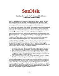 SanDisk Extreme Pro CompactFlash Card Technology