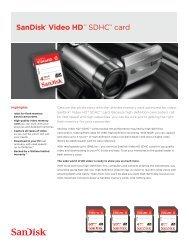 SanDisk® Video HD™ SDHC™ card - Amazon S3