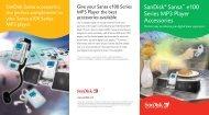 SanDisk® Sansa™ e100 Series MP3 Player Accessories