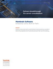 Membrain Software White Paper - SanDisk