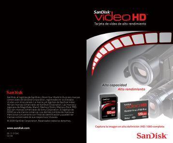 Tarjeta de video de alto rendimiento Alta capacidad Alto ... - SanDisk