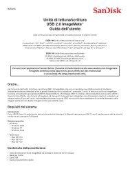 Unità di lettura/scrittura USB 2.0 ImageMate® Guida dell ... - SanDisk