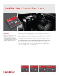 SanDisk Ultra® CompactFlash® cards