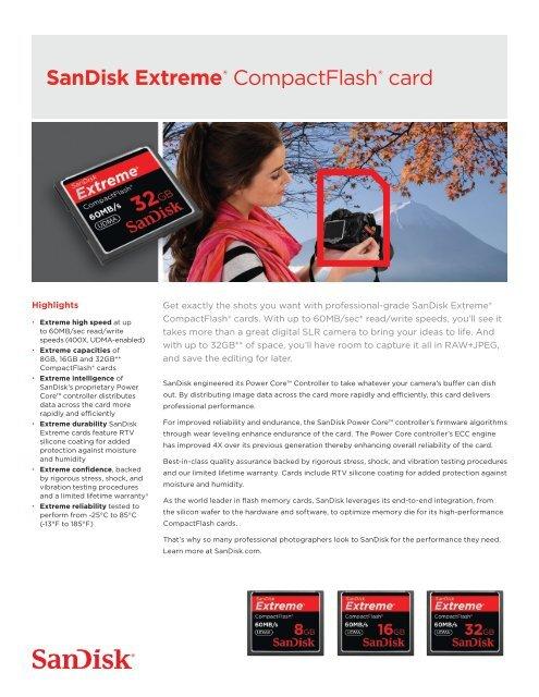 SanDisk Extreme® CompactFlash® card