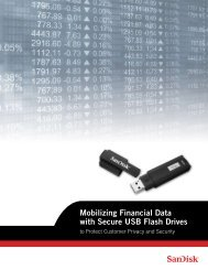Mobilizing Financial Data with Secure USB Flash Drives - SanDisk