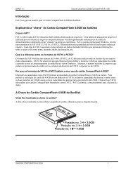 """Introdução Explicando a """"chave"""" do Cartão CompactFlash ... - SanDisk"""