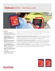 Netbook SDHC™ memory card - SanDisk