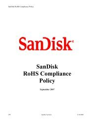 SanDisk RoHS Compliance Policy