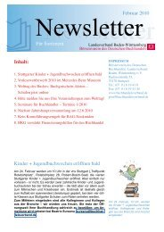 Februar 2010 Für Sortiment Kinder + Jugendbuchwochen eröffnen ...