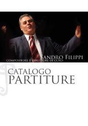 catalogo partiture - Sandro Filippi