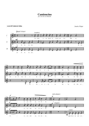 scarica partitura - Sandro Filippi