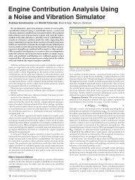 Engine Contribution Analysis Using a Noise and Vibration Simulator