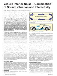Vehicle Interior Noise - Sound and Vibration Magazine