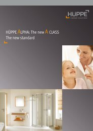 HÜPPE ALPHA: The new A CLASS The new standard