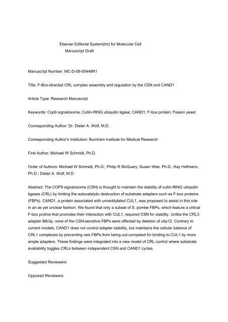 medical researcher cover letter