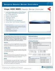 Vega 400 SBC: Session Border Controller - Sangoma