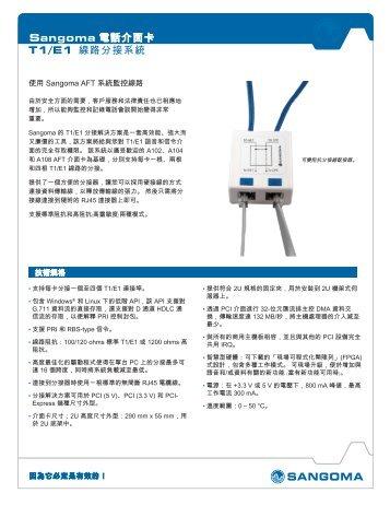 Sangoma 電話介面卡T1/E1 線路分接系統
