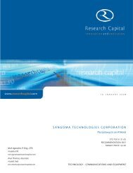 Research Capital 2008-01-16 - Sangoma