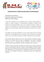 DECLARATION FETE DE LA MUSIQUE - Sangonet