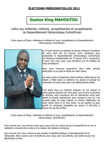 ÉLECTIONS PRÉSIDENTIELLES 2011 : Lettre aux ... - Sangonet