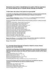 Nomination des préfets et réhabilitation de certains ... - Sangonet