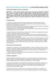 Bourses de formation aux métiers d'art – La Ville de ... - Sangonet