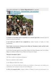 Centrafrique, une situation bien inquiétante - Sangonet