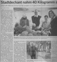 Sanguinum Pressebericht - Stadtdechant nahm 40kg ab - Feb 2013