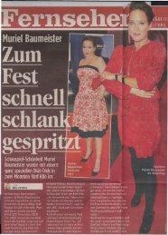 Muriel Baumeister zum Fest schnell schlank gespritzt - Sanguinum