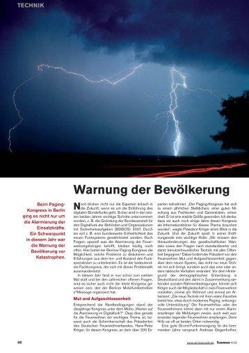 Warnung der Bevölkerung - e*Bos - Alarmierung