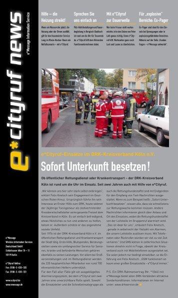 e*Cityruf News 3/2003 - e*Bos - Alarmierung