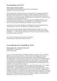 Chronik Pressemitteilungen - Eine Welt Verein Oberursel