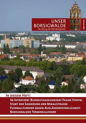 Unser Borsigwalde, Ausgabe 8, Herbst 2009 - Emine Demirbüken ...