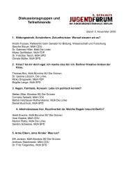 Diskussionsgruppen und Teilnehmende - Emine Demirbüken-Wegner