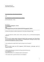 Leistungsgewährung nach dem Asylbewerberleistungsgesetz in Berlin