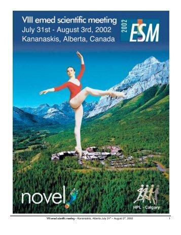 VIII emed scientific meeting – Kananaskis, Alberta July 31st ... - Novel